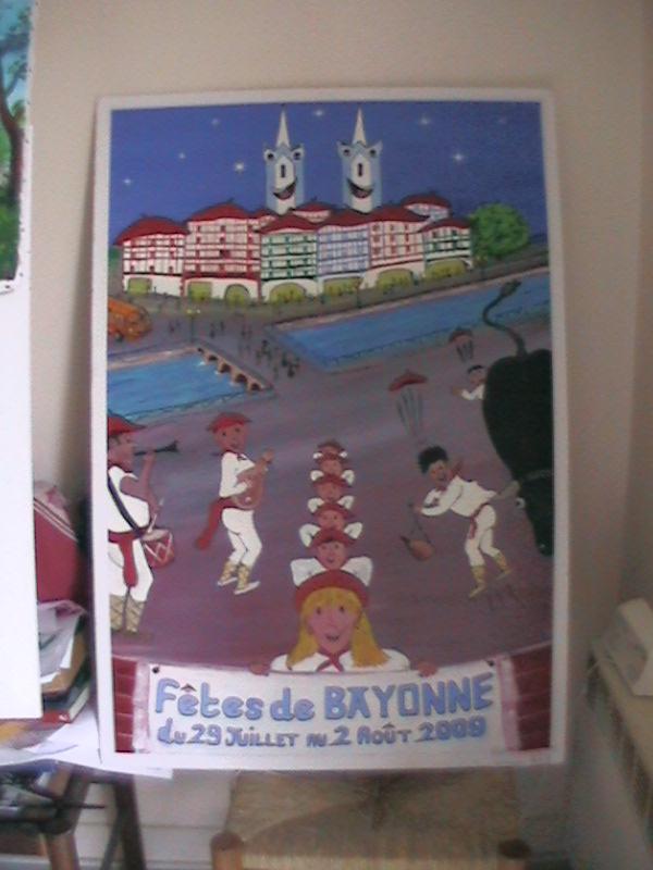 Concours affiche fetes de bayonne 2009 et 2010 peintures - Peinture bayonne ...
